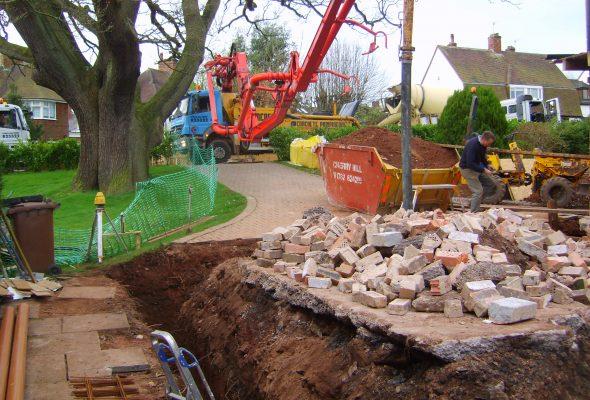 Concrete-pumped-into-foundations-