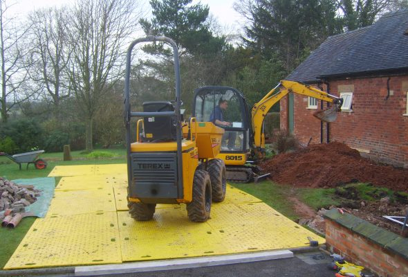 Track Mats ideal for light plant such as dumpers and mini diggers