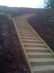 New Sleepers for steps and 4m timbers for edges