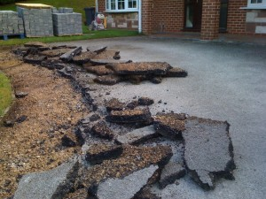 Works commenced  on new block paved driveway