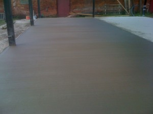 Finished Agricultural Concrete Shed Floor