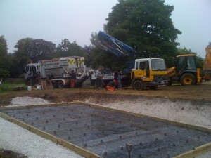 Concrete arrives on site