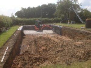 Drainage Stone to line the pool base