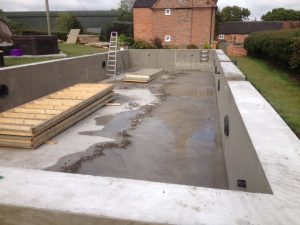 Cast Concrete Pool Derbyshire